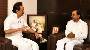 KCR in a meeting with Stalin