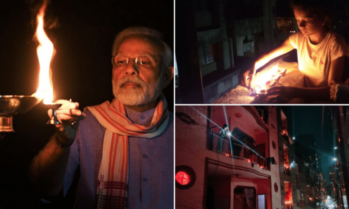"India switches off power, and lights up to thank ""Corona warriors"""