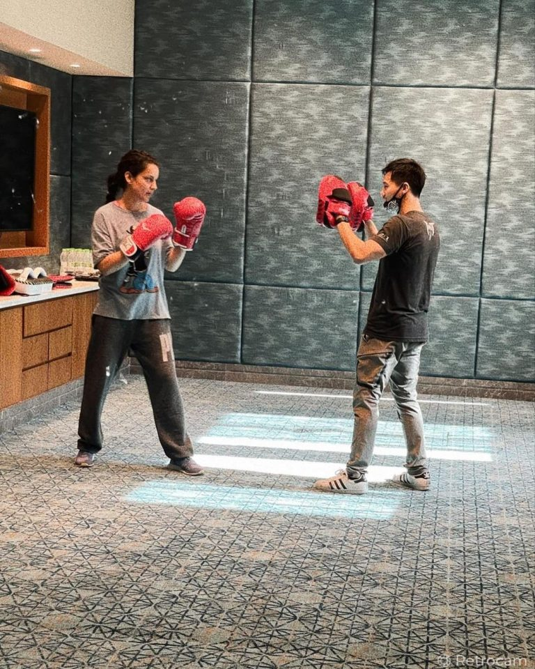 Kangana practises with action master for Dhaakad