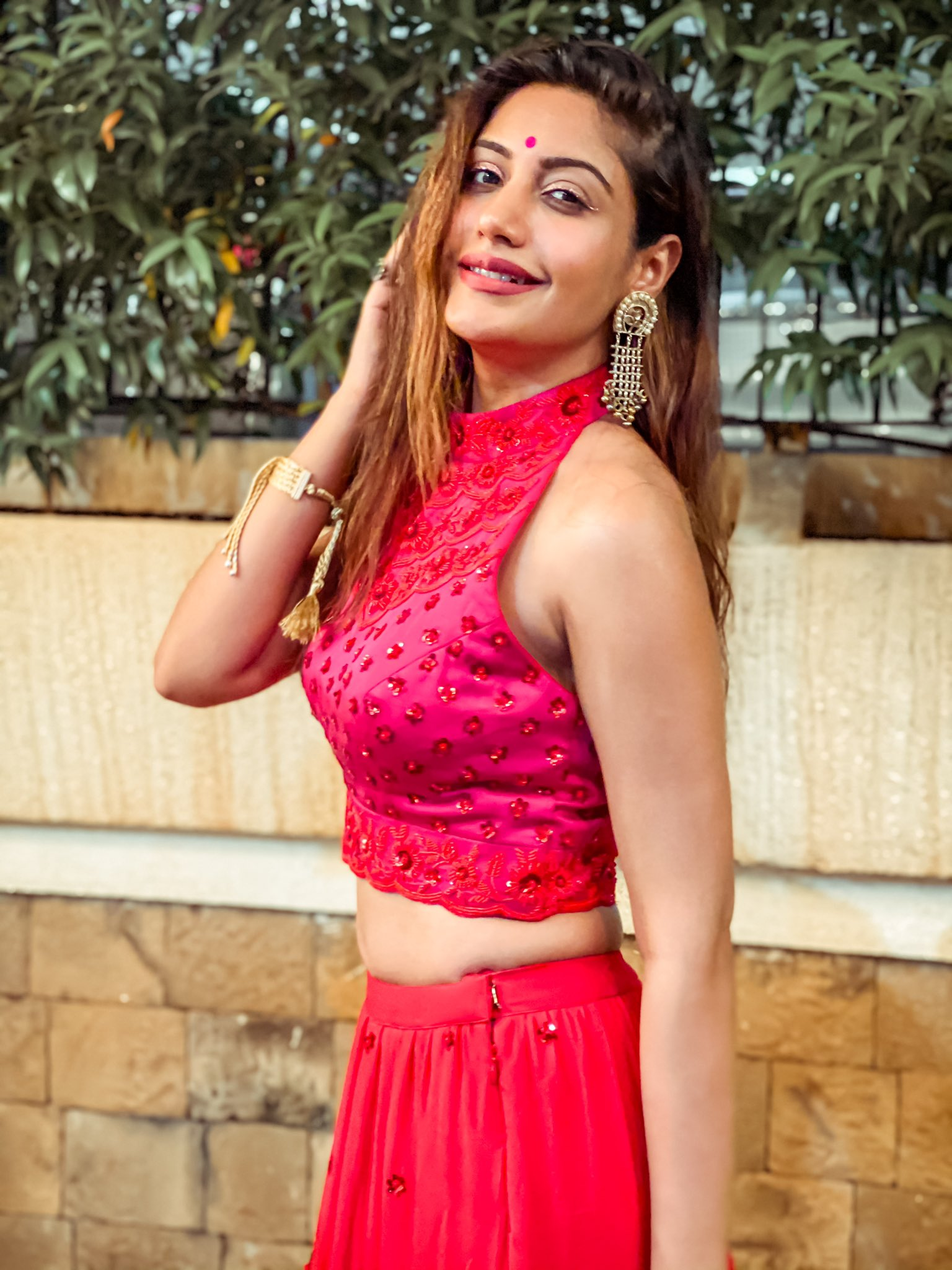 Surbhi chandana Red Dress pics