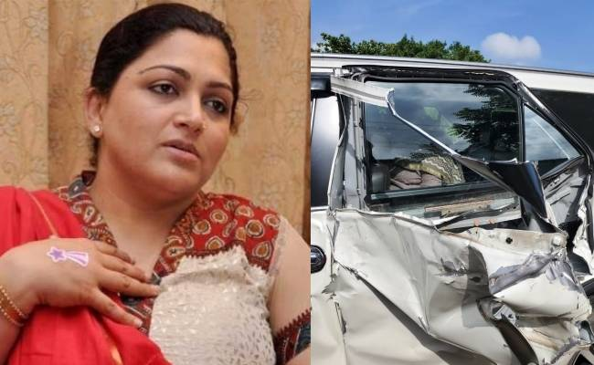 Breaking: Khushboo narrowly escapes an accident!