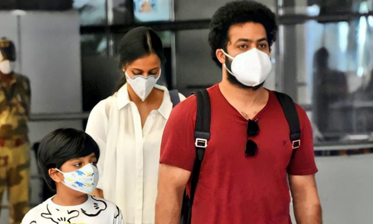 NTR is back from the vacation; Family snapped at Airport