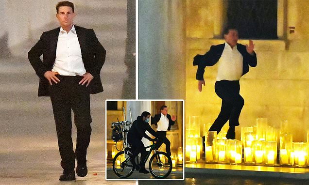 Tom Cruise shoots for Mission Impossible 7 in Venice