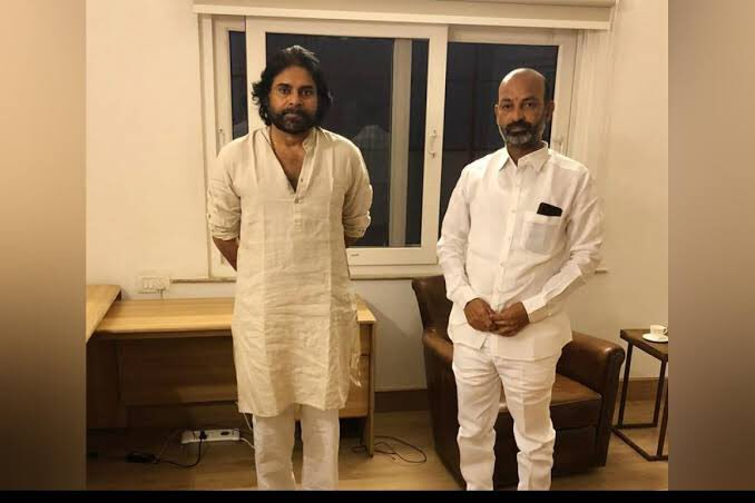 Bandi Sanjay thanks powerstar for his role in GHMC elections