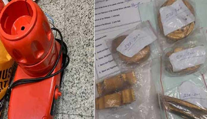 2.5 kg gold, 30K dollars seized at Hyderabad Airport