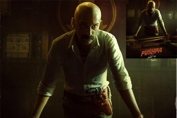 Fahadh scares with his menacing look from Pushpa