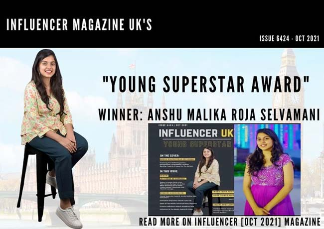 Rojas daughter Anshu features in the popular UK magazine